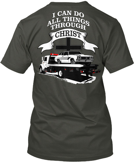 I Can Do All Things Through Christ Smoke Gray T-Shirt Back