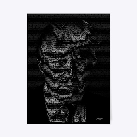 Trump Inauguration Speech Poster. Black T-Shirt Front
