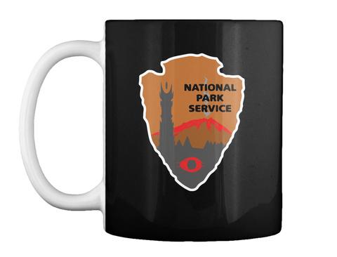 National Park Service Black T-Shirt Front