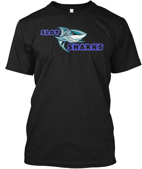 Slit Sharks Black T-Shirt Front
