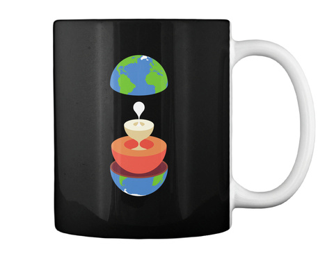 Layers Earth Mug V [Usa] #Sfsf Black Mug Back