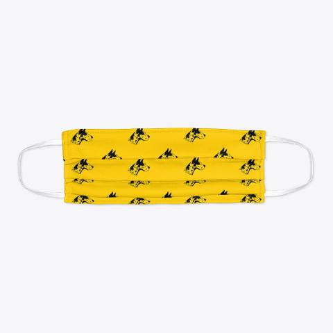 Yellow Great Dane Pattern Face Mask Standard T-Shirt Flat