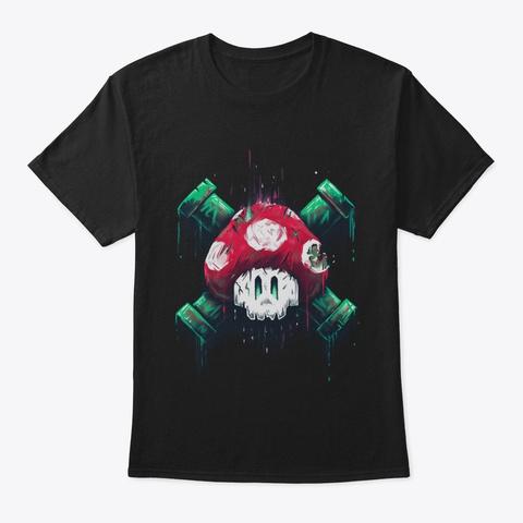 Mushroom Skull Black T-Shirt Front