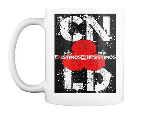 #Disabled Latinx Mug (Portuguese) White Mug Front
