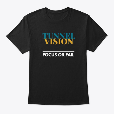 Tunnel Vision Black T-Shirt Front