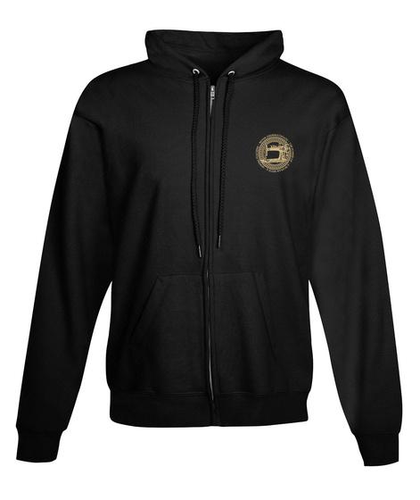 Sewing Machine   Ltd. Edition Zip Hoodie Black T-Shirt Front