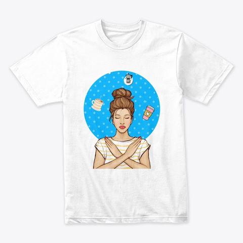 C Offee Meditation  White T-Shirt Front