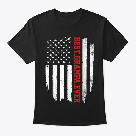 Best Grampa Ever Shirt Vintage American Black Maglietta Front