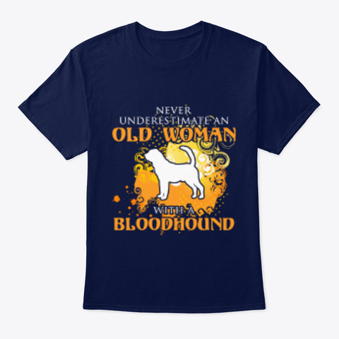 Bloodhound Never Underestimate Navy T-Shirt Front