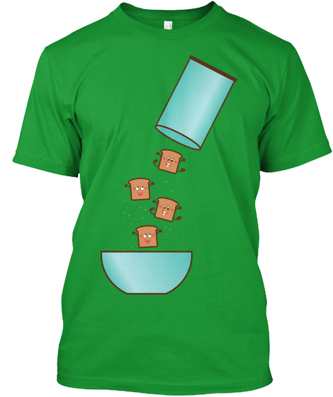 Breakfast! Kelly Green T-Shirt Front