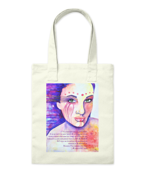 Heart Warrior Tote Natural Tote Bag Front