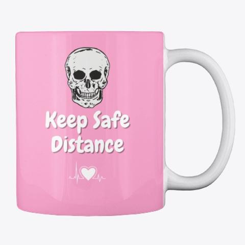 Keep Safe Distance Pink Camo T-Shirt Back