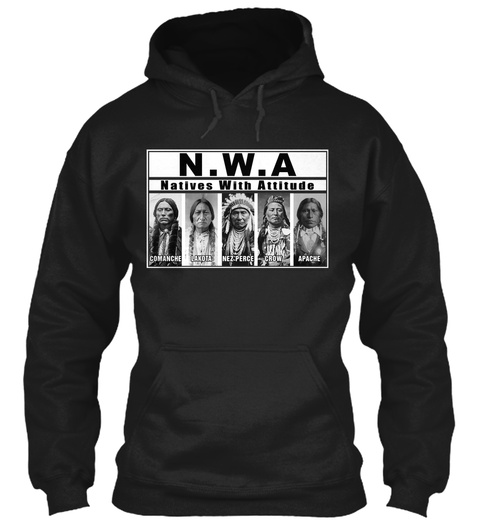 N.W.A Natives With Attitude Black T-Shirt Front
