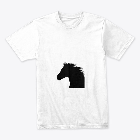 Horse White T-Shirt Front