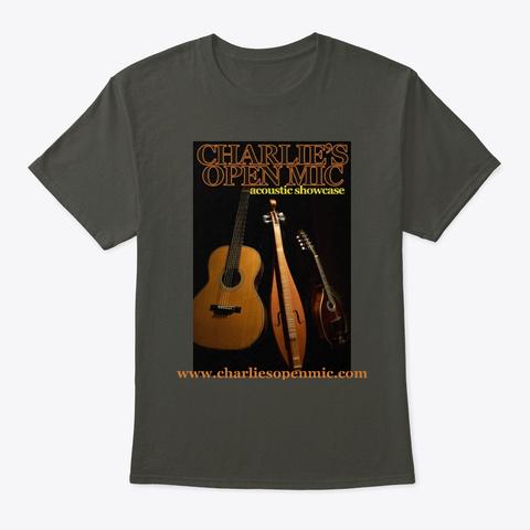 Charlie's Open Mic T Shirt Smoke Gray T-Shirt Front