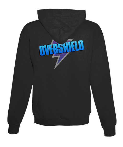 Overshield Jet Black Sweatshirt Back