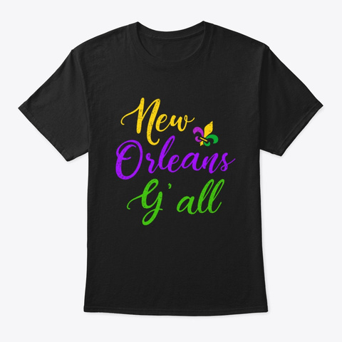 Southern Mardi Gras New Orleans Black T-Shirt Front