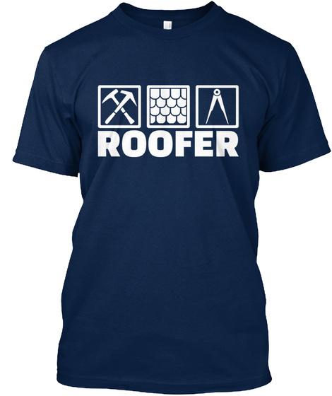 Roofer T Shirt Navy T-Shirt Front