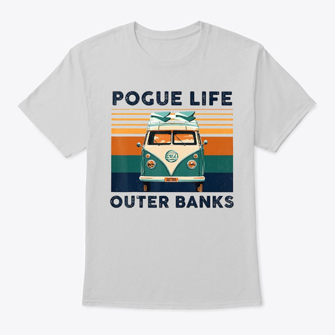 Pogue Life Outer Banks T Shirt Official Light Steel T-Shirt Front