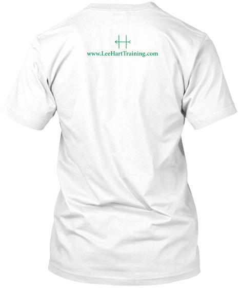 Www.Leehearttraining.Com White T-Shirt Back