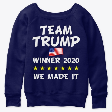 Victory Trump 2020 President Election Navy  T-Shirt Front