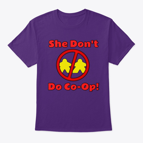 Ofpg   She Don't Do  Co Op! Purple T-Shirt Front