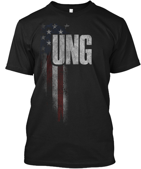 Ung Family American Flag Black T-Shirt Front