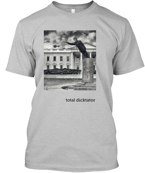 Total Dicktator Light Heather Grey  T-Shirt Front