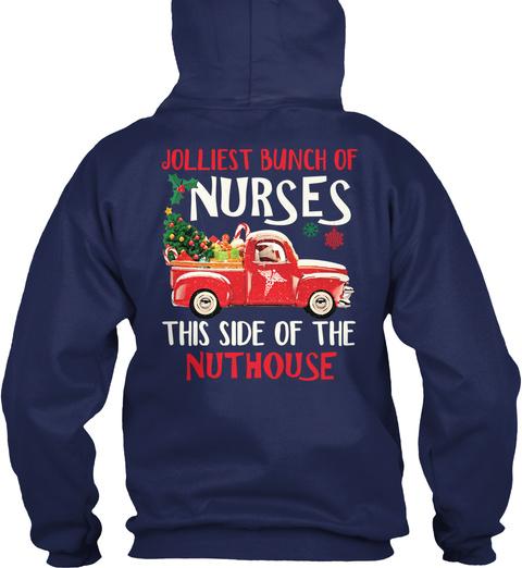 Jolliest Bunch Of Nurses Navy T-Shirt Back