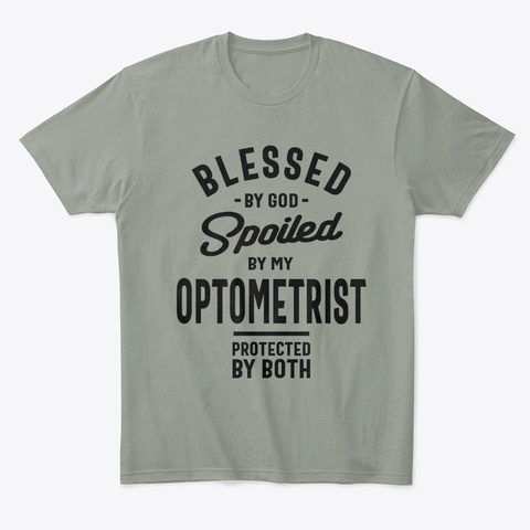 Optometrist Work Job Title Gift Grey T-Shirt Front