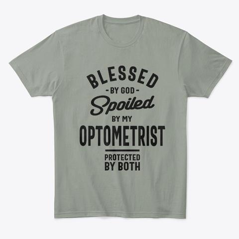 Optometrist Work Job Title Gift Grey T-Shirt Front