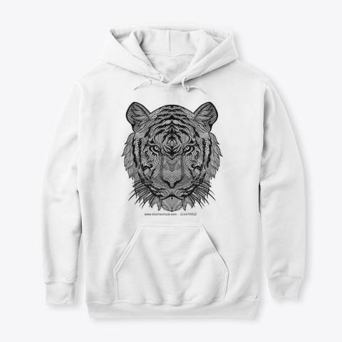 Tiger T Shirt  White T-Shirt Front