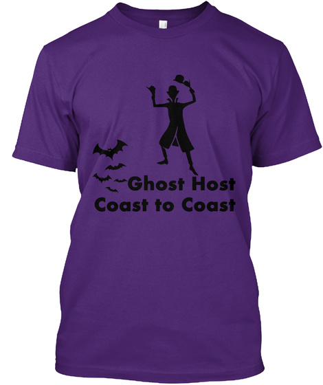 Ghost Host Coast To Coast Purple T-Shirt Front