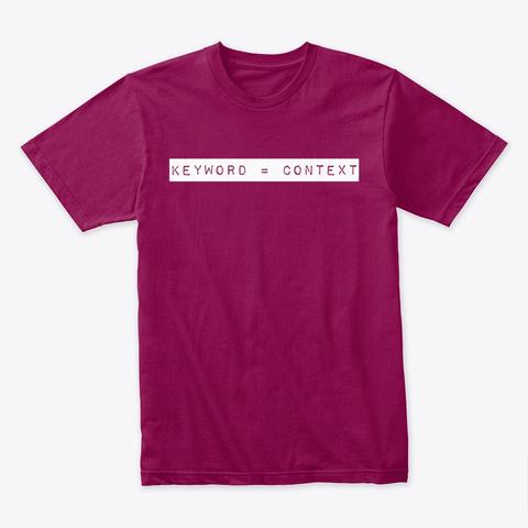 Keyword = Context Cardinal T-Shirt Front