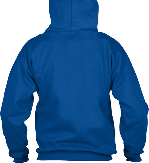 Fragile Heart In Blue Hoodie Royal T-Shirt Back