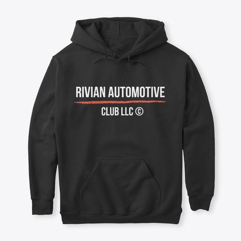 Rivian Automotive Club Fall Clothing Black T-Shirt Front