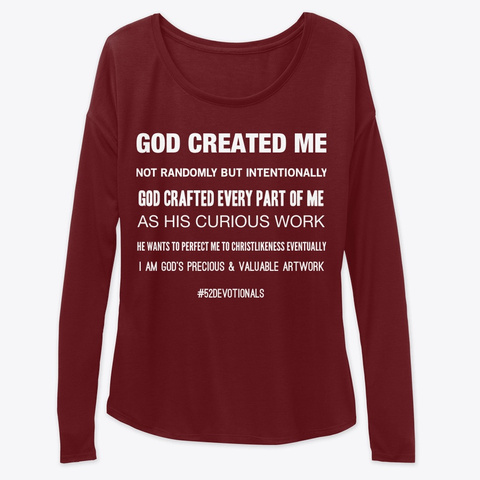 Christian Poems by Anna Szabo #PoemsFromGod red Flowy God Created Me