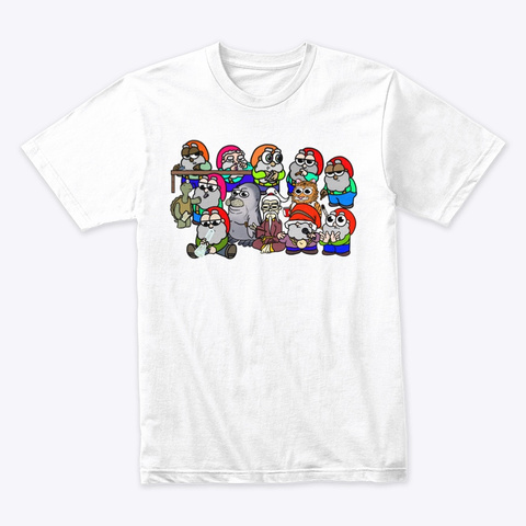 Gnome & Friends White T-Shirt Front