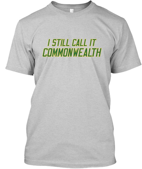 Naming Wrongs: Commonwealth (Grey/Green) Light Steel T-Shirt Front