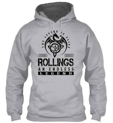 Rollings   Legends Alive Sport Grey T-Shirt Front