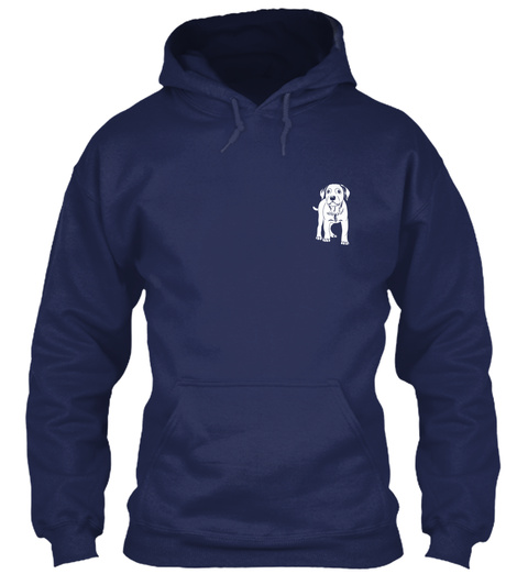 Dog   Don't Mess With... Navy Sweatshirt Front
