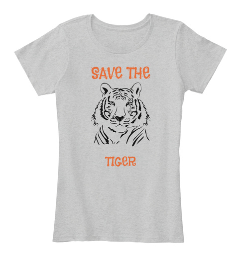Save The Tiger Light Heather Grey T-Shirt Front