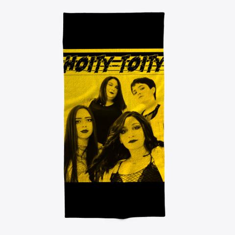 Yellow Portrait Black T-Shirt Front