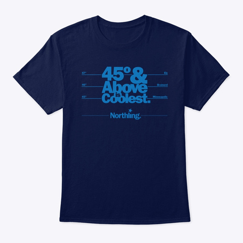 Northling™ 45th Parallel Minnesota Navy T-Shirt Front