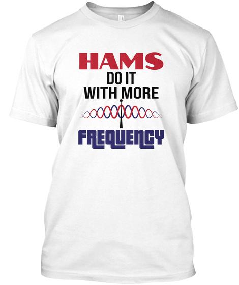 Licensed Ham Radio Cw Operator  Morse White T-Shirt Front