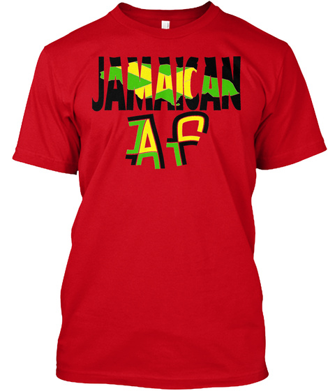 Jamaican Af Collection Red T-Shirt Front