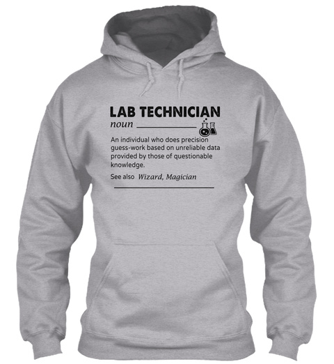 Lab Technician Sport Grey T-Shirt Front