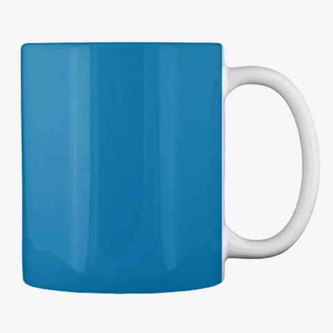 Gardening Slogan Mug, Cup, China,Drink Royal Blue T-Shirt Back