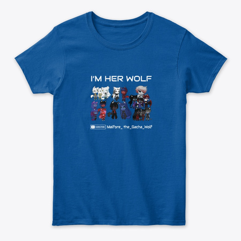 I'm Her Wolf Royal T-Shirt Front
