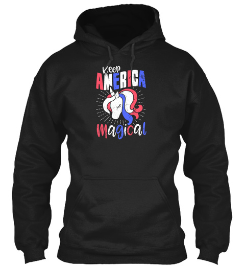 Independence Day 4th Of July Keep Americ Black Sweatshirt Front